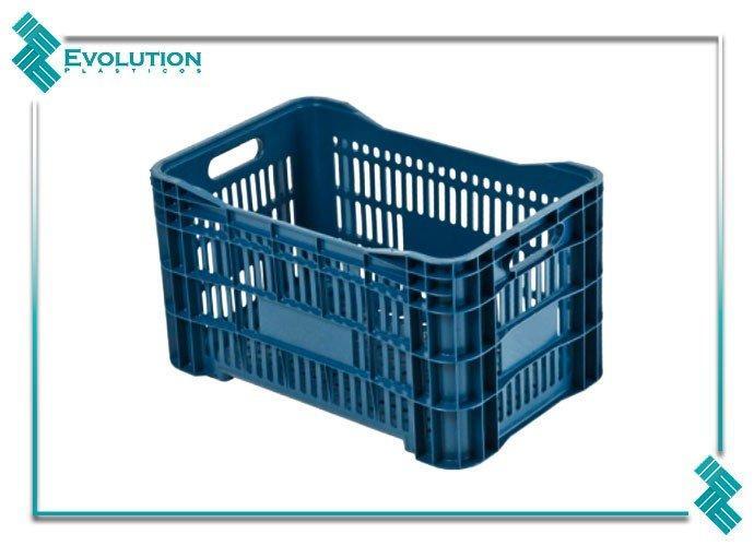 Caixa plástica agrícola vazada