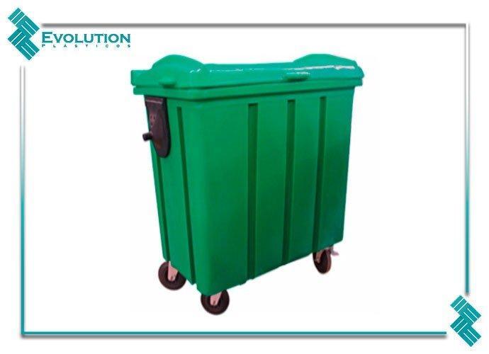 Container de lixo de plástico