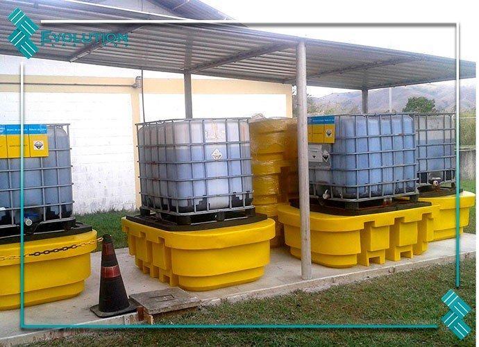Palete para contentor ibc de 1000 litros