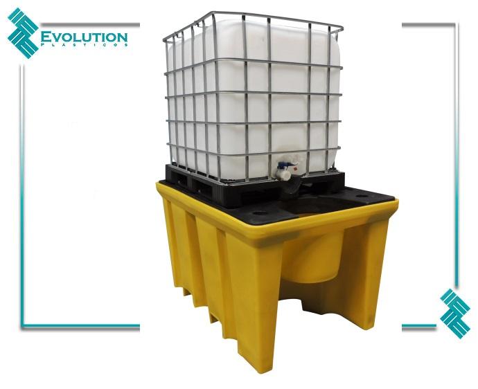 Pallet de contenção para 1000 litros